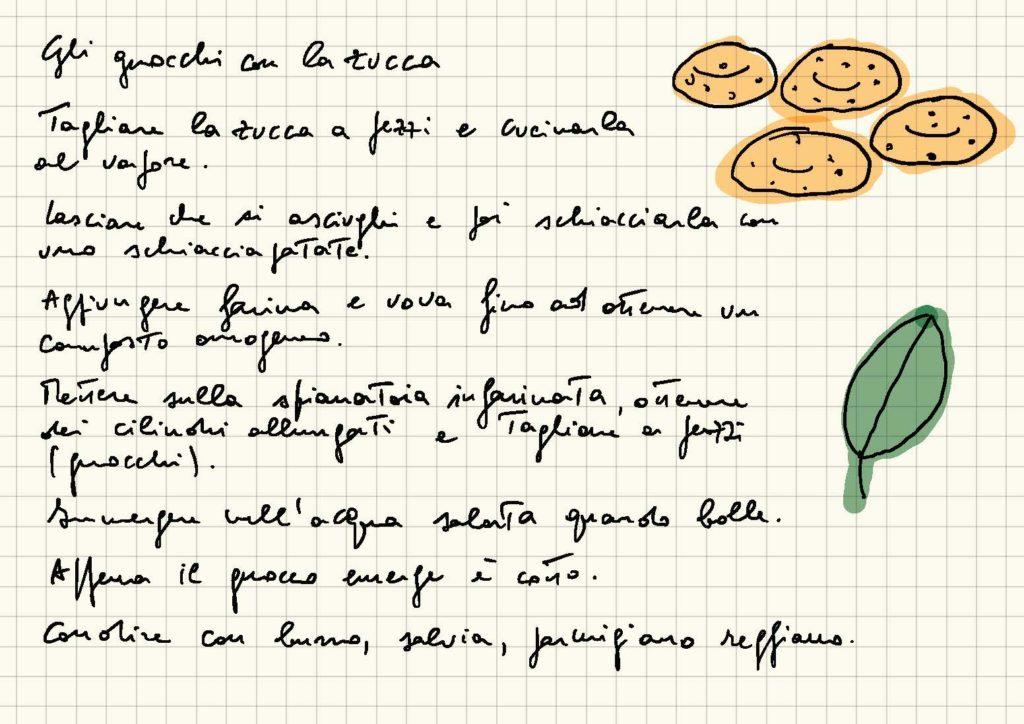 Le ricette scritte a mano for Ricette di cucina