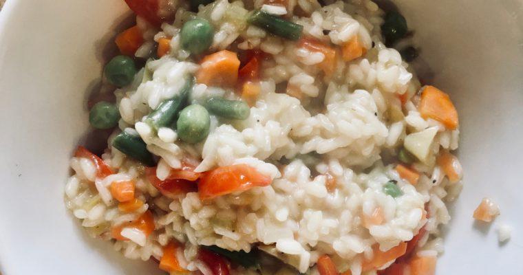 Il risotto con le verdure
