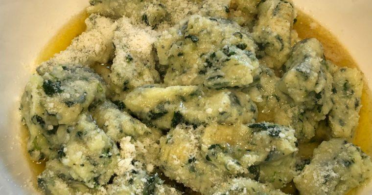 Gnocchi di patate e spinaci