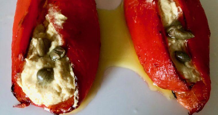 I peperoni con la salsa tonnata