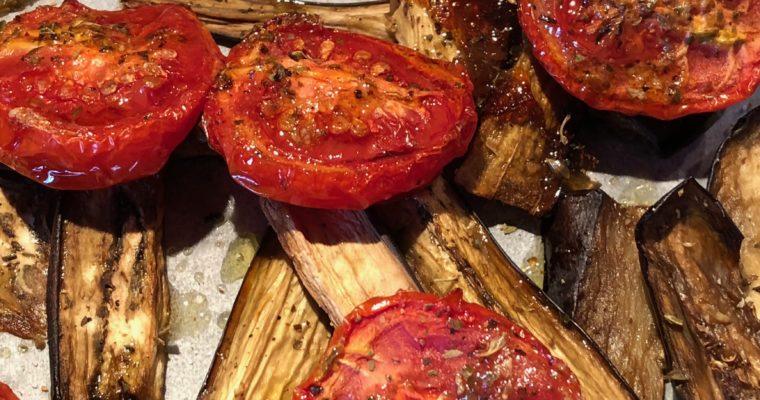 Infofood – Pomodori confit e melanzane in doppia cottura
