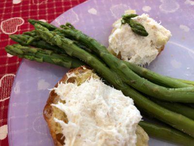 Gli asparagi e il baccalà mantecato