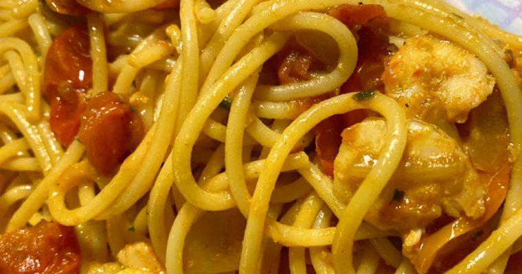 La ricette ai tempi del #coronavirus                          Gli spaghetti con i gamberi